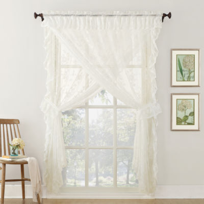 Home Expressions Jessica Priscilla Rod-Pocket 5-Piece Curtain Panel Set