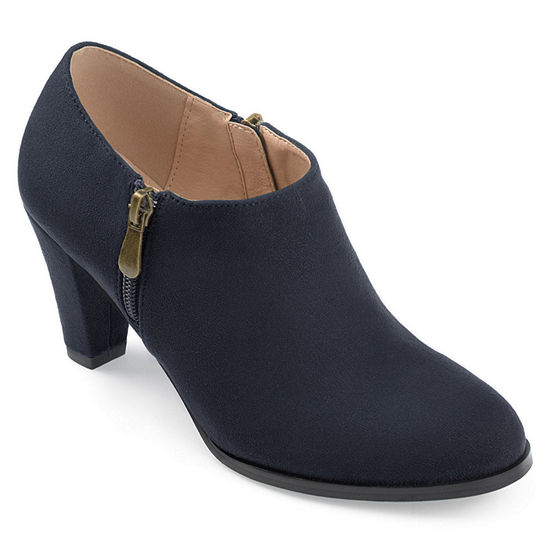 Journee Collection Womens Sanzi Booties Stacked Heel