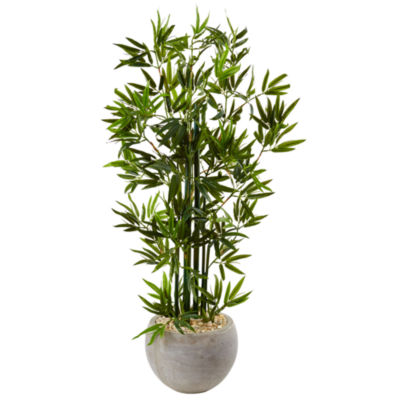 4' Bamboo Artificial Tree in Sand Colored Bowl