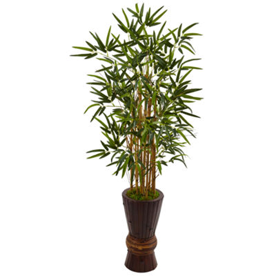 4.5' Bamboo Artificial Tree in Bamboo Planter
