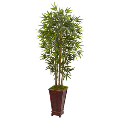 5' Bamboo Artificial Tree in Decorative Planter