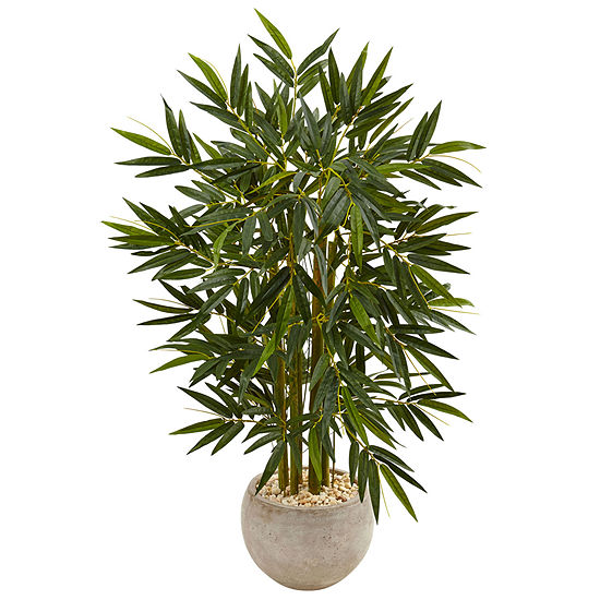 4' Leafy Bamboo Artificial Tree in Sand Colored Bowl