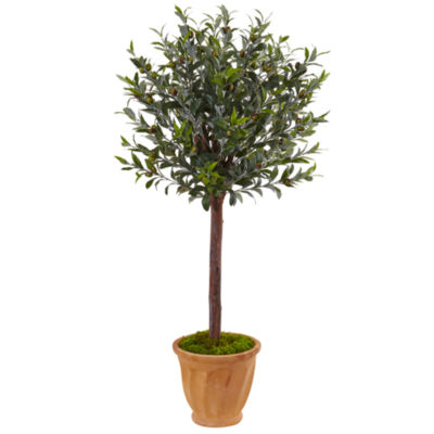 4.5' Olive Artificial Tree in Terracotta Planter