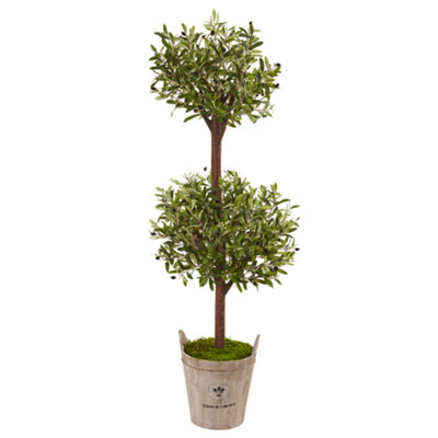 5' Olive Artificial Tree in Farmhouse Planter