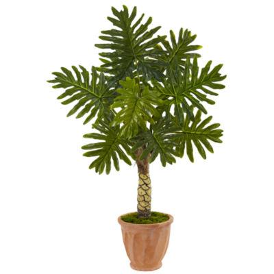 4.5' Monstera Artificial Tree in Terracotta Pot