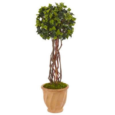 3' English Ivy Artificial Tree in Terracotta Pot, UV Resistant (Indoor/Outdoor)
