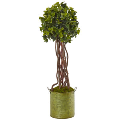 2.5' English Ivy Artificial Tree in Metal Planter; UV Resistant (Indoor/Outdoor)