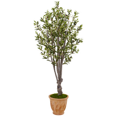 5' Olive Artificial Tree in Terracotta Planter