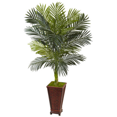 5' Golden Cane Palm Artificial Tree in Decorative Planter