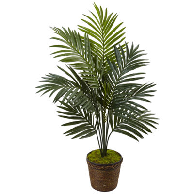 4' Kentia Palm Artificial Tree in Coiled Rope Planter