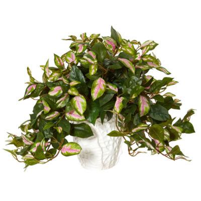 Hoya Artificial Plant in White Ceramic Vase