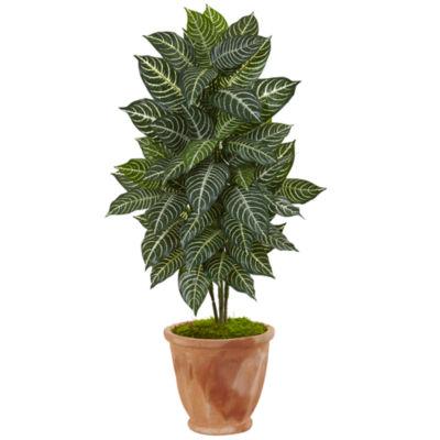 """42"""" Zebra Artificial Plant in Terracotta Planter"""