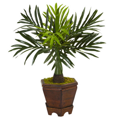 "Assorted 16.5""H Mini Artificial Palm Trees in Planter (Set of 3)"""