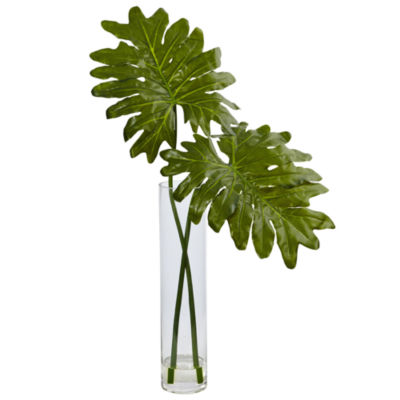 Selloum Artificial Plant in Cylinder Glass