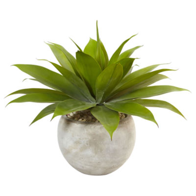 "24"" Agave Artificial Plant in Sand Colored Bowl """