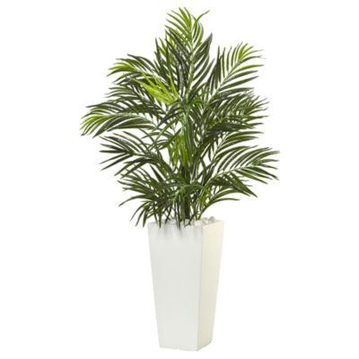 """39""""H Areca Artificial Palm in White Square Planter"""""""