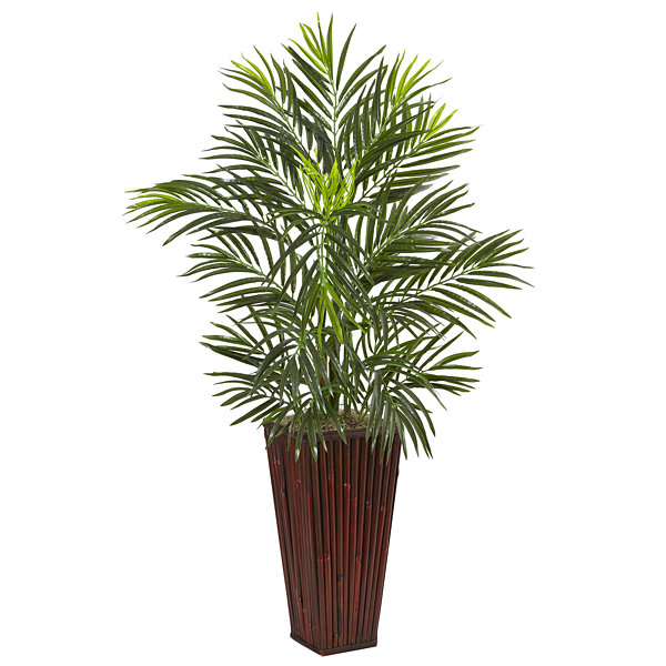 Areca Artificial Palm in Bamboo Planter