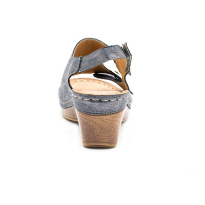 GC Shoes Womens Melba Wedge Sandals