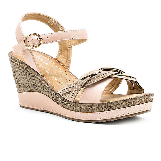 GC Shoes Womens Moxie Wedge Sandals