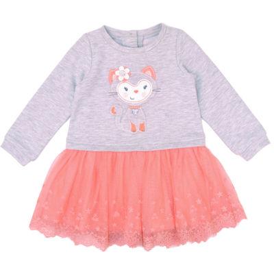 Nanette Baby Knit Gray Kitty Tutu Dress -Baby Girls