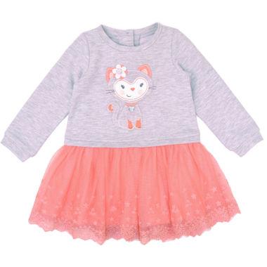 Nanette Baby Knit Gray Kitty Tutu Dress Baby Girls JCPenney