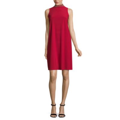 Tiana B Sleeveless Dress with Beaded Neck - Tall