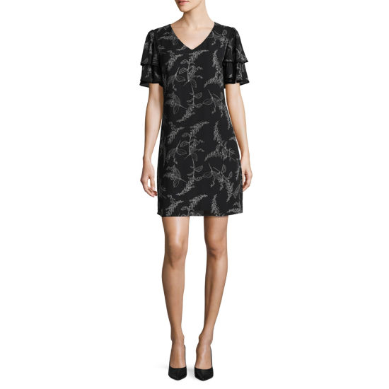 Worthington Short Sleeve  Sheath Dress - Tall