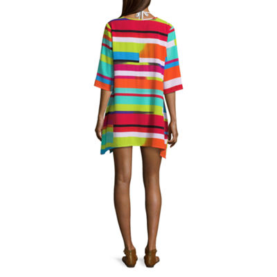 Porto Cruz Geometric Swimsuit Cover-Up Dress