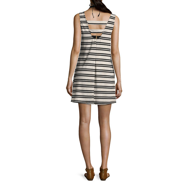 Porto Cruz Stripe Jersey Swimsuit Cover-Up Dress
