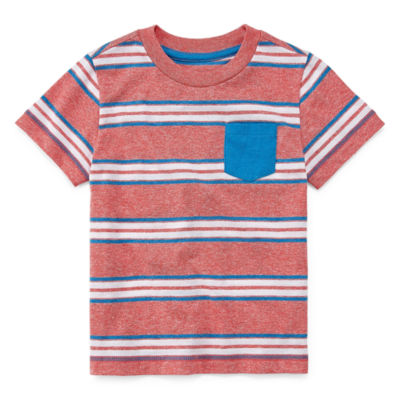 Okie Dokie Short Sleeve Crew Neck T-Shirt-Toddler Boys