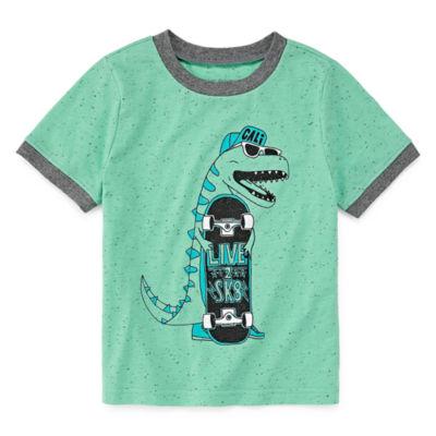 Okie Dokie Short Sleeve Graphic T-Shirt-Toddler Boys
