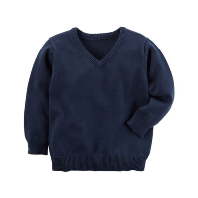 Carter's V Neck Long Sleeve Pullover Sweater - Toddler