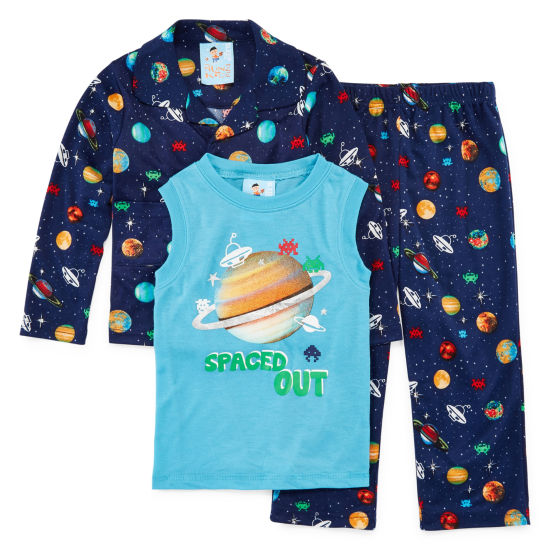 Outerspace 3 PC Pajama Set - Toddler Boys
