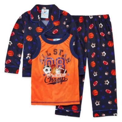 All Sport 3 PC Pajama Set - Toddler Boys