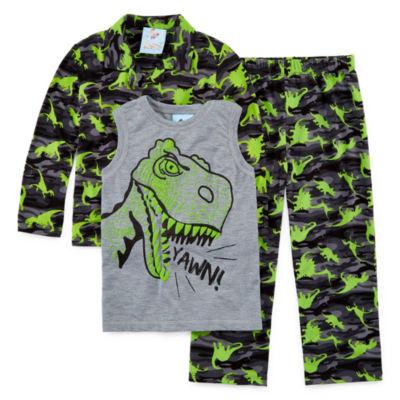 Monster 3 PC Pajama Set - Toddler Boys