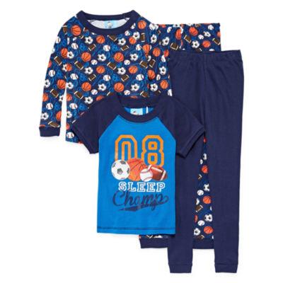 Sleep Champ 4 pc. Pajama Set - Preschool Boys