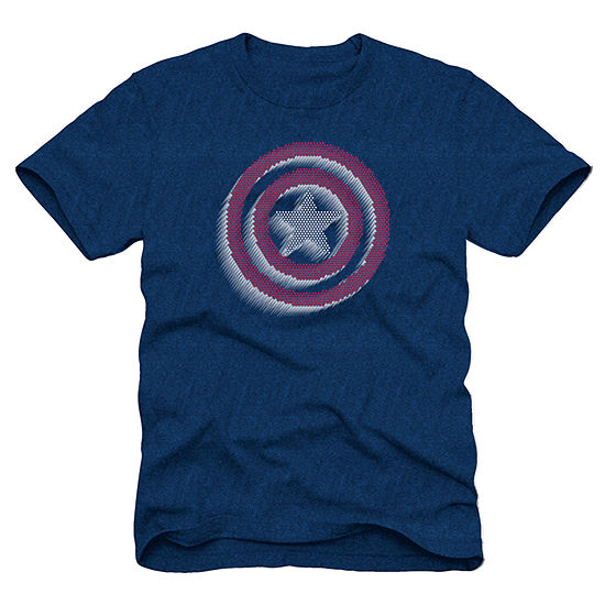 Boys Crew Neck Short Sleeve Captain America Graphic T-Shirt - Preschool / Big Kid