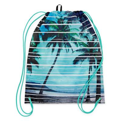Boys Tropical Print Cinch Sack