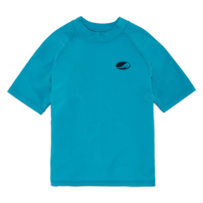 Arizona Swim Short Sleeve Rash Guard-Boys & Husky 4-20