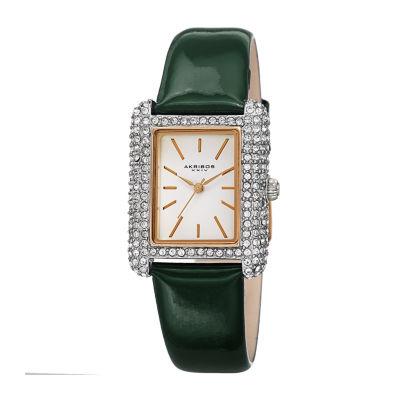 Akribos XXIV Womens Green Strap Watch-A-1068gn