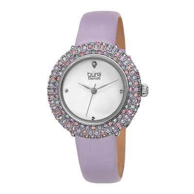 Burgi Womens Purple Strap Watch-B-227lb