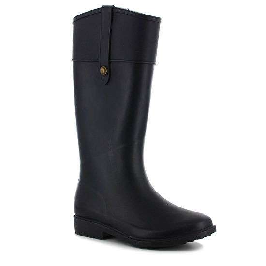 Chooka Fashion Womens Waterproof Flat Heel Pull-on Rain Boots