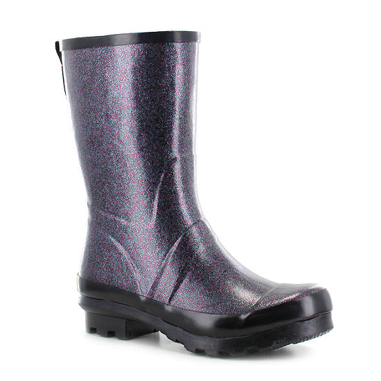 Western Chief Womens Razzle Dazzle Waterproof Flat Heel Pull-on Mid Rain Boots