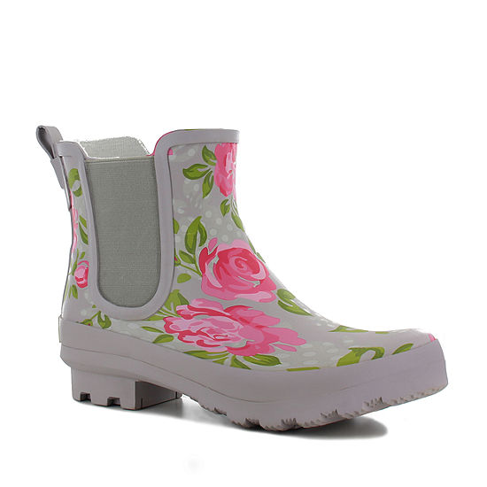 Western Chief Womens Floral Masterpiece Flat Heel Pull-on Chelsea Boots