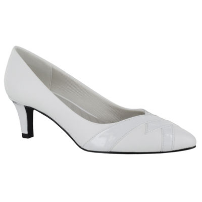 Easy Street Womens Jenna Pointed Toe Spike Heel Slip-on Pumps