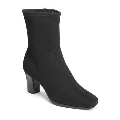 A2 by Aerosoles Womens Persimmon Booties Block Heel Zip