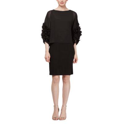 S. L. Fashions 3/4 Sleeve Shift Dress