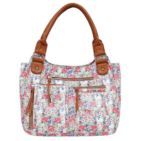 St. John's Bay Grainy Wash Pocket Shoulder Bag