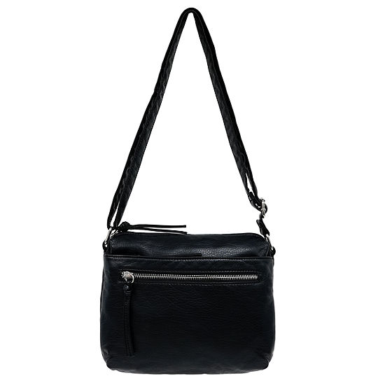 St. John's Bay Triple Zip Mini Crossbody Bag