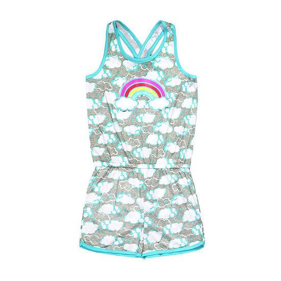 8bd434317 Jelli Fish Kids Clouds 1pc Pajama Romper - Girls - JCPenney